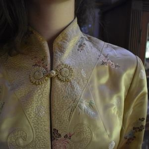 Gold and Green Reversible Chinese Robe